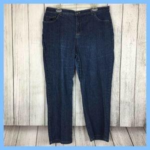 Gloria Vanderbilt Average Denim Blue Jeans Sz 18W